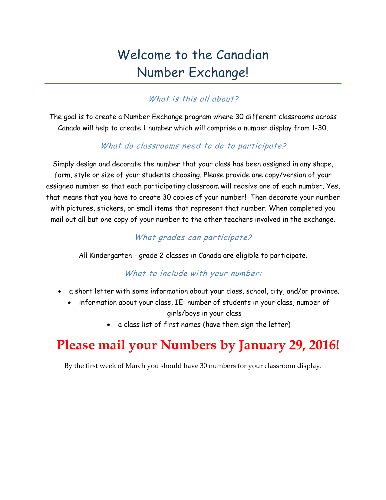 Canadian Number Exchange Info Pack Resource Preview