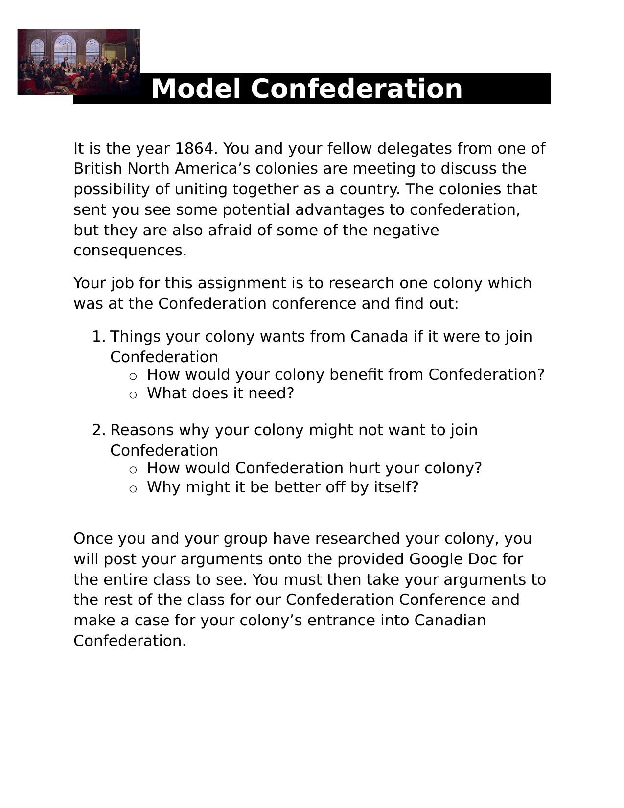 Model Confederation Assignment Resource Preview