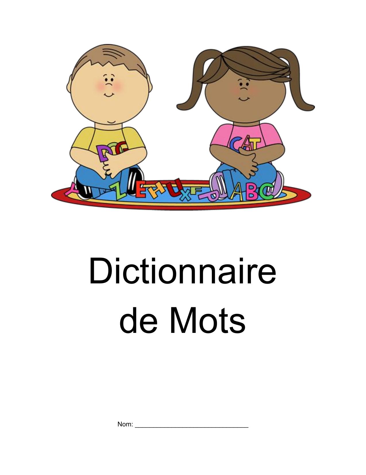 Dictionnaire de Mots Resource Preview