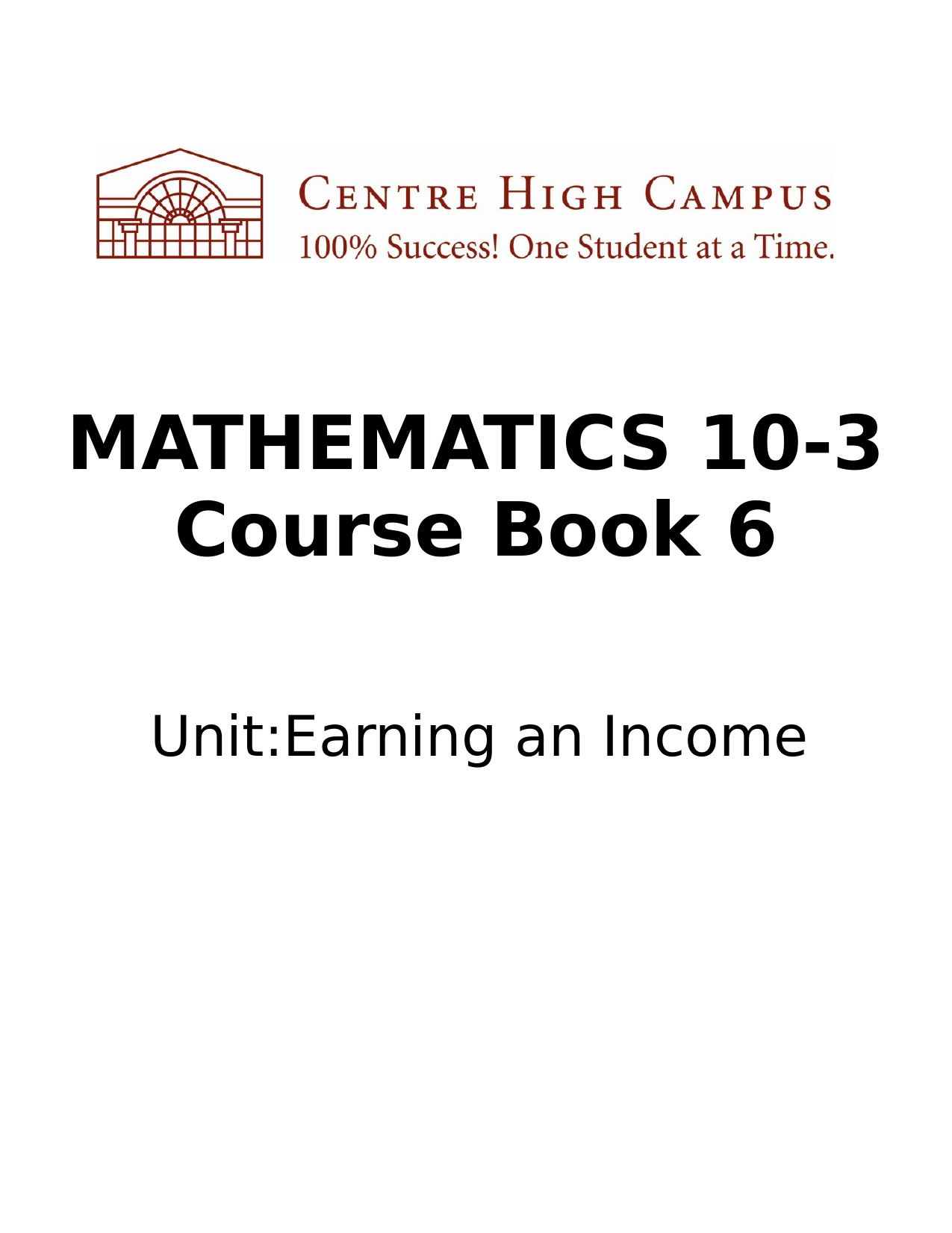 Math 10 Dash 3 Earning an Income Unit Notes Resource Preview