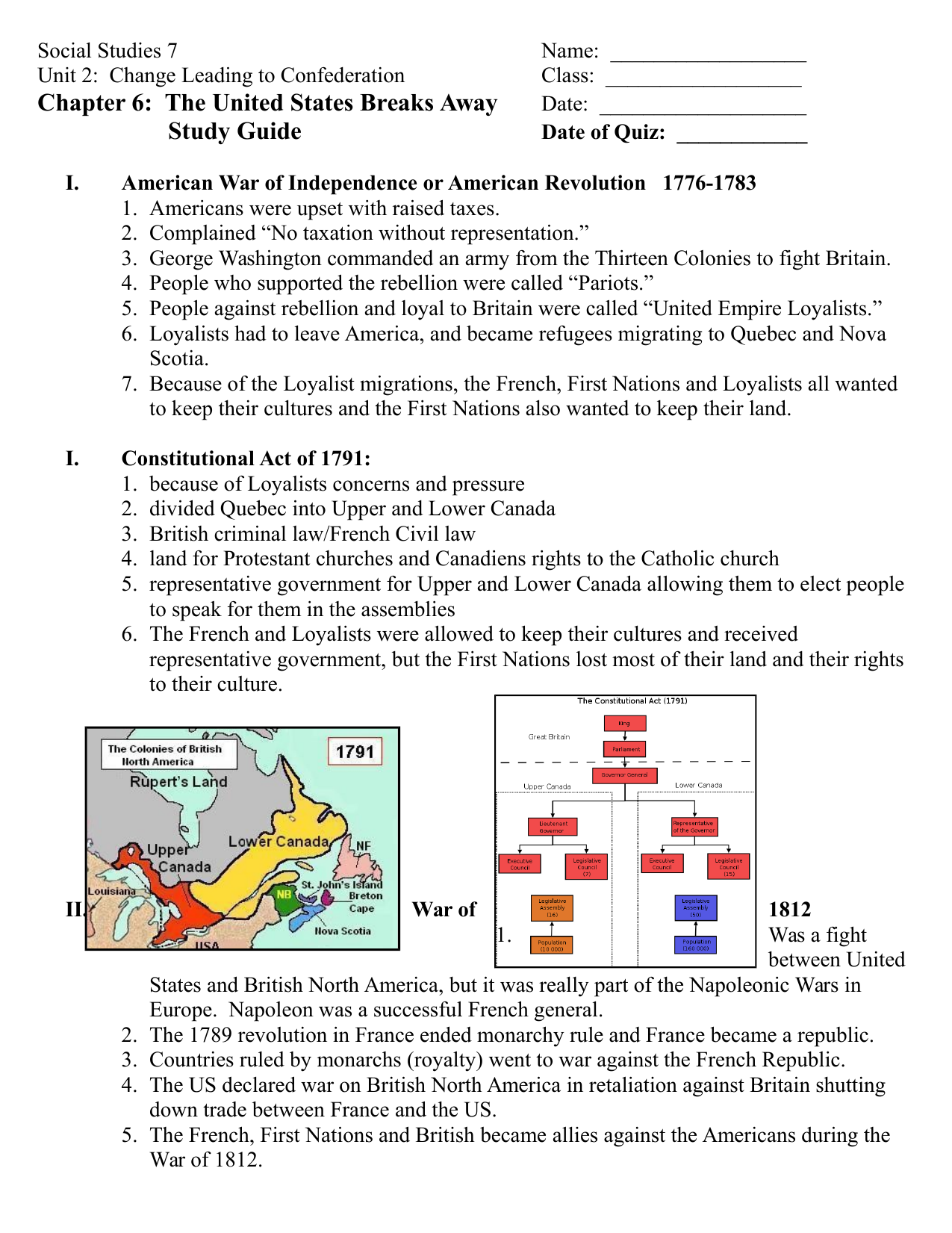 Our Canada Chapter 6 Study Guide Resource Preview