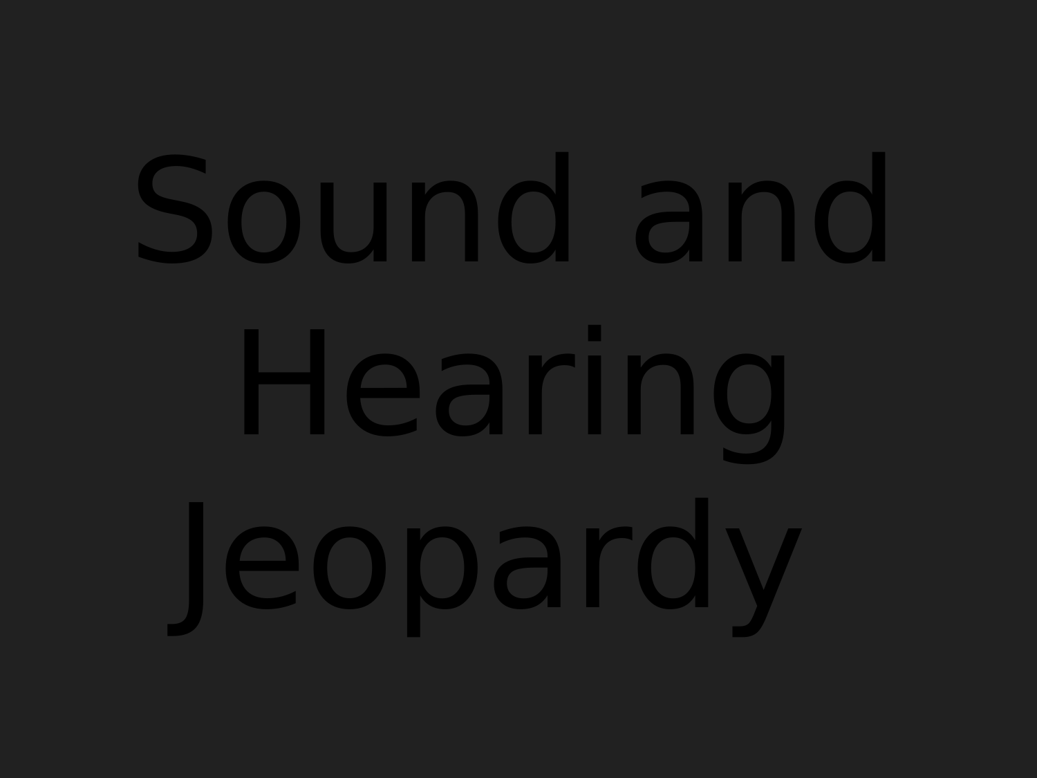 Sound and Hearing Review  Resource Preview