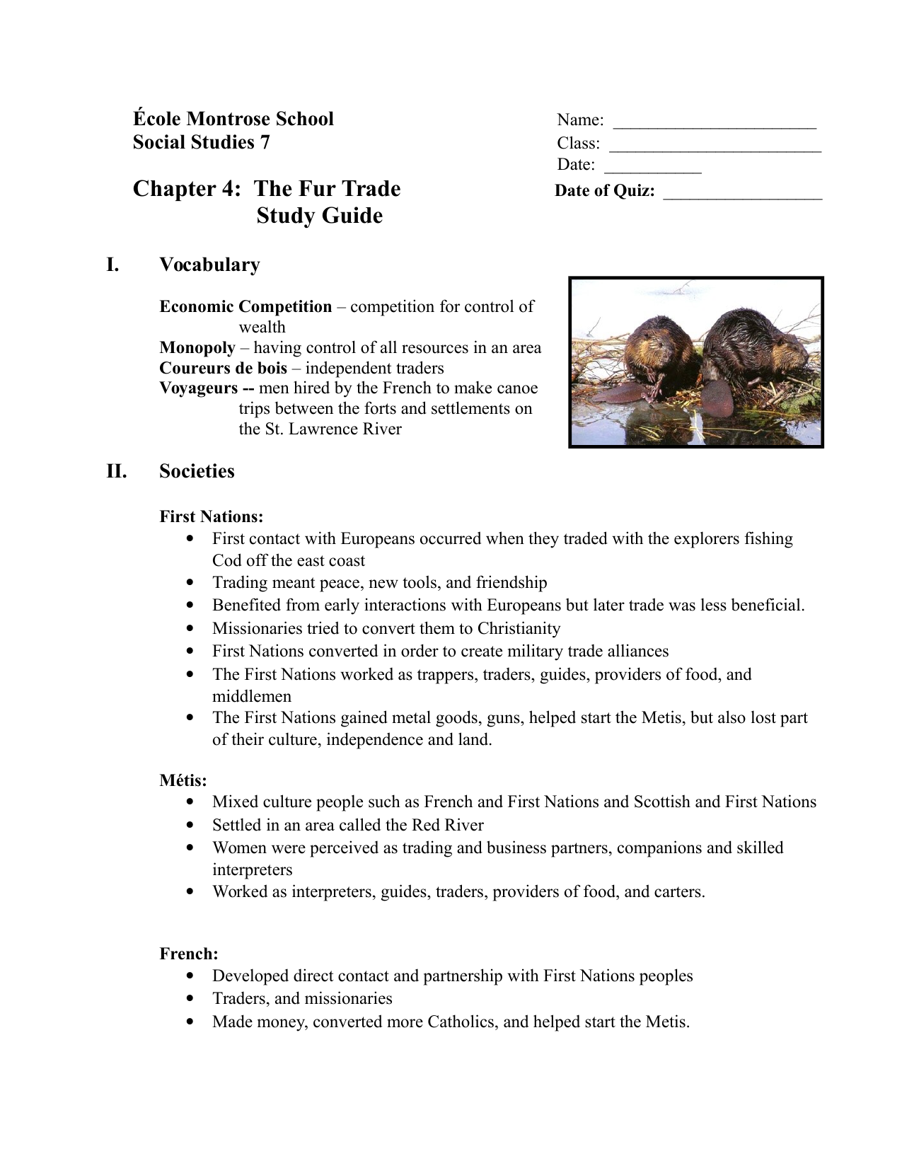 Our Canada Chapter 4 Study Guide Resource Preview