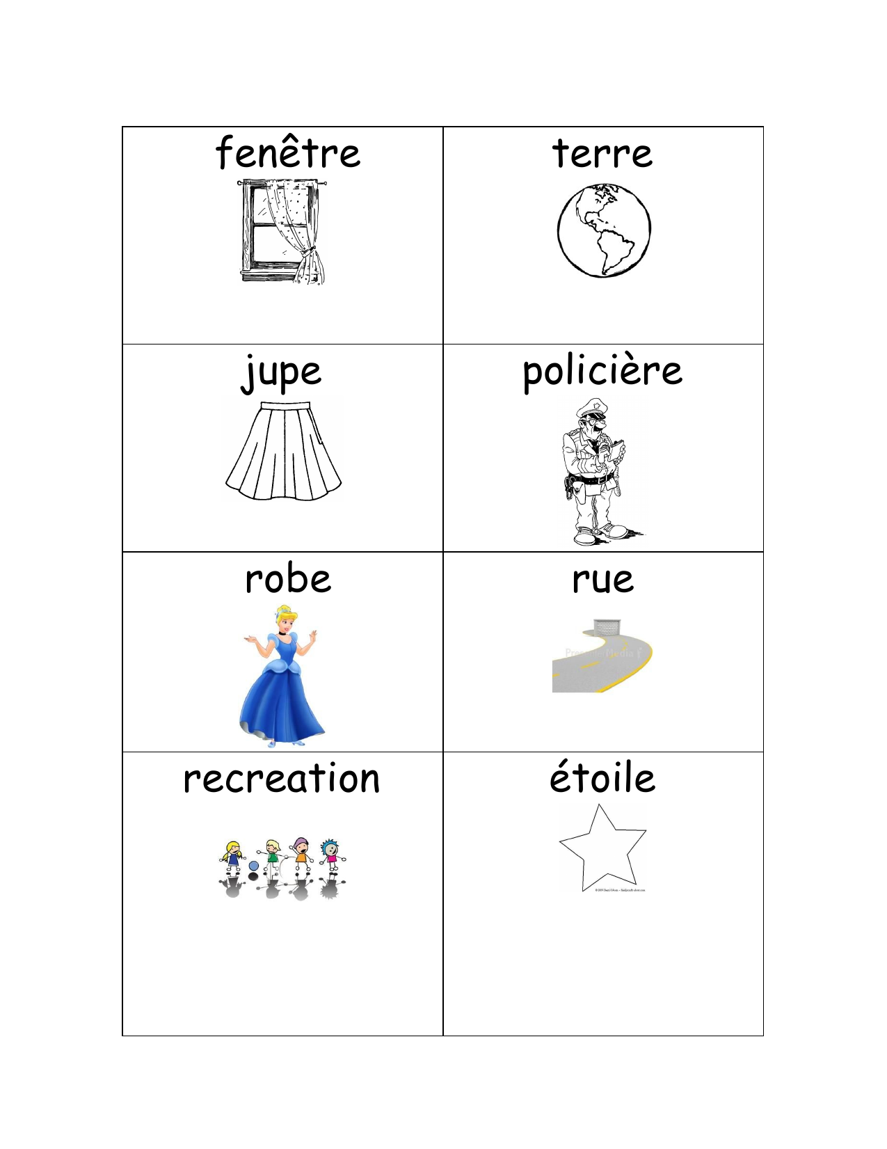 Vocabulary Flashcards Resource Preview