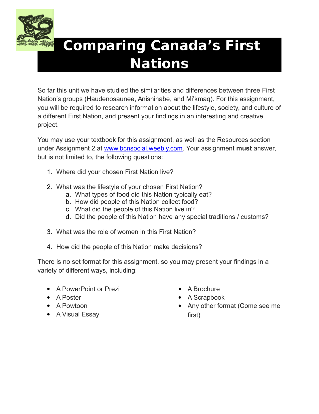 First Nations Research Project Resource Preview