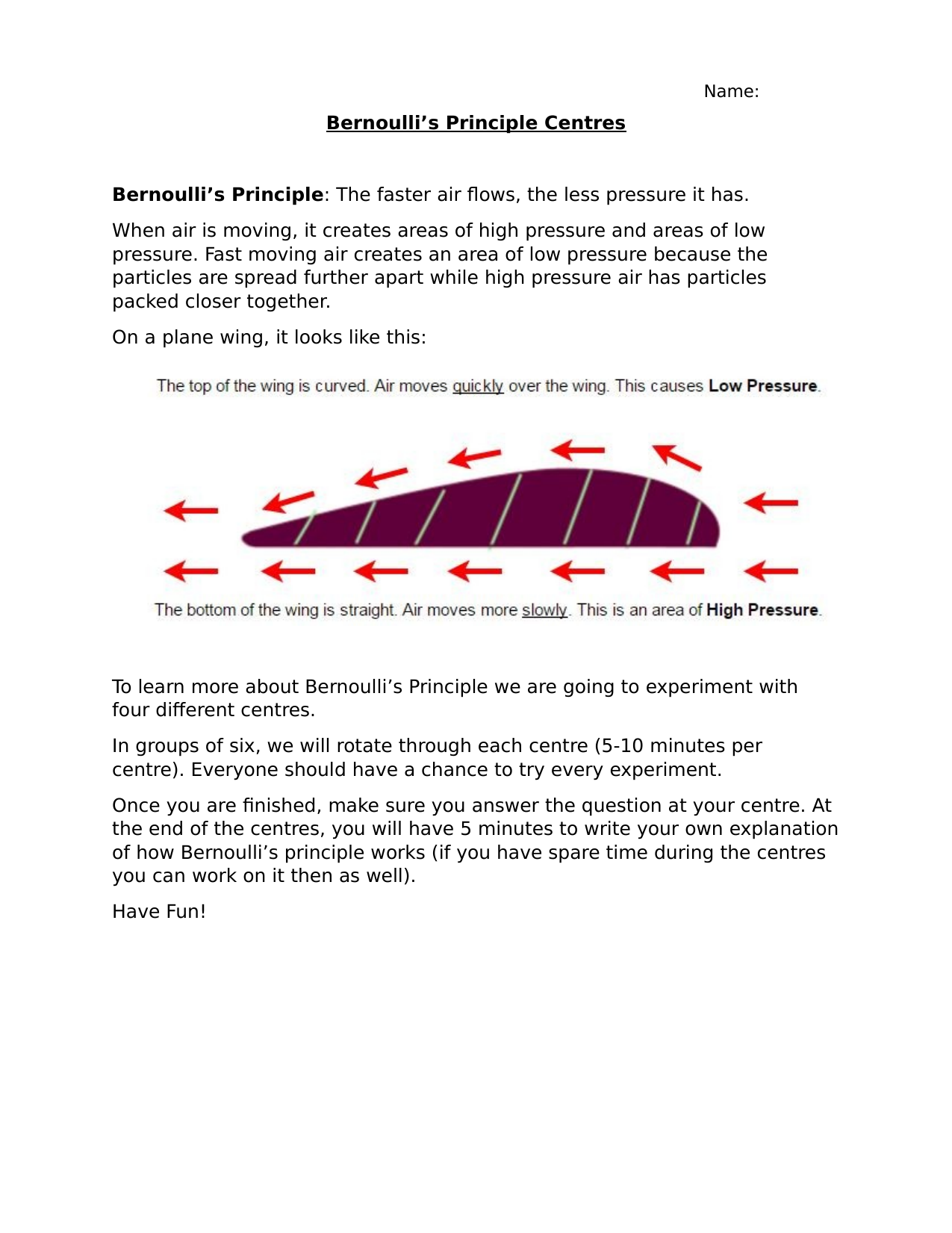 Bernoulli Centres  Resource Preview