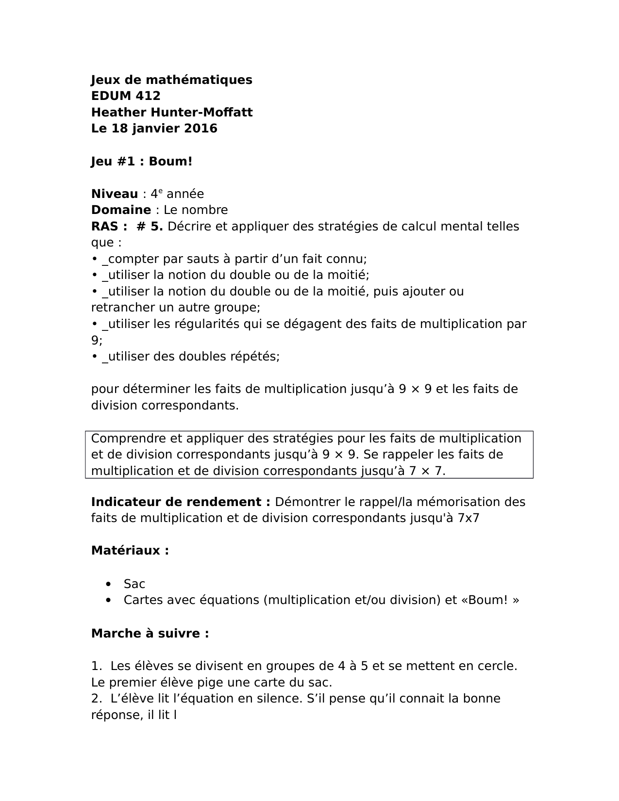 Jeux de maths Resource Preview