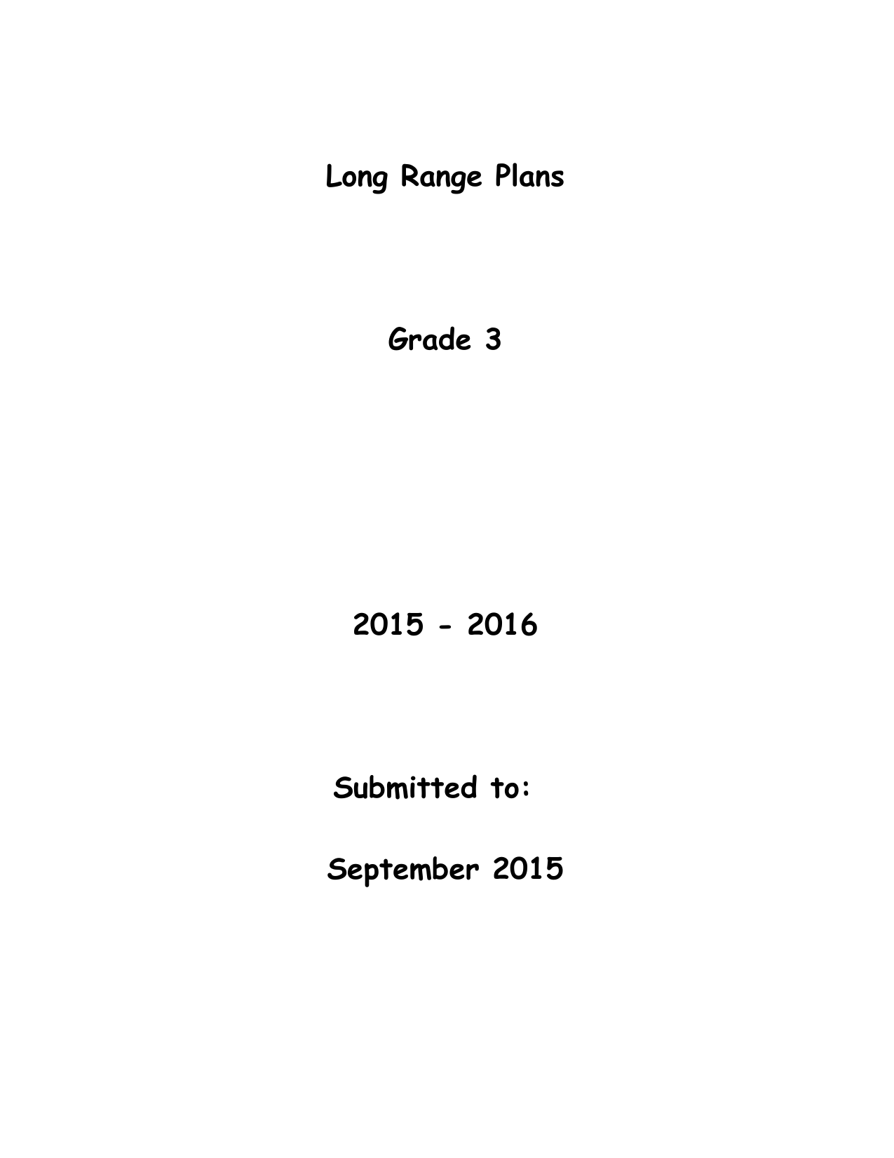 Grade 3 Year Plans Resource Preview