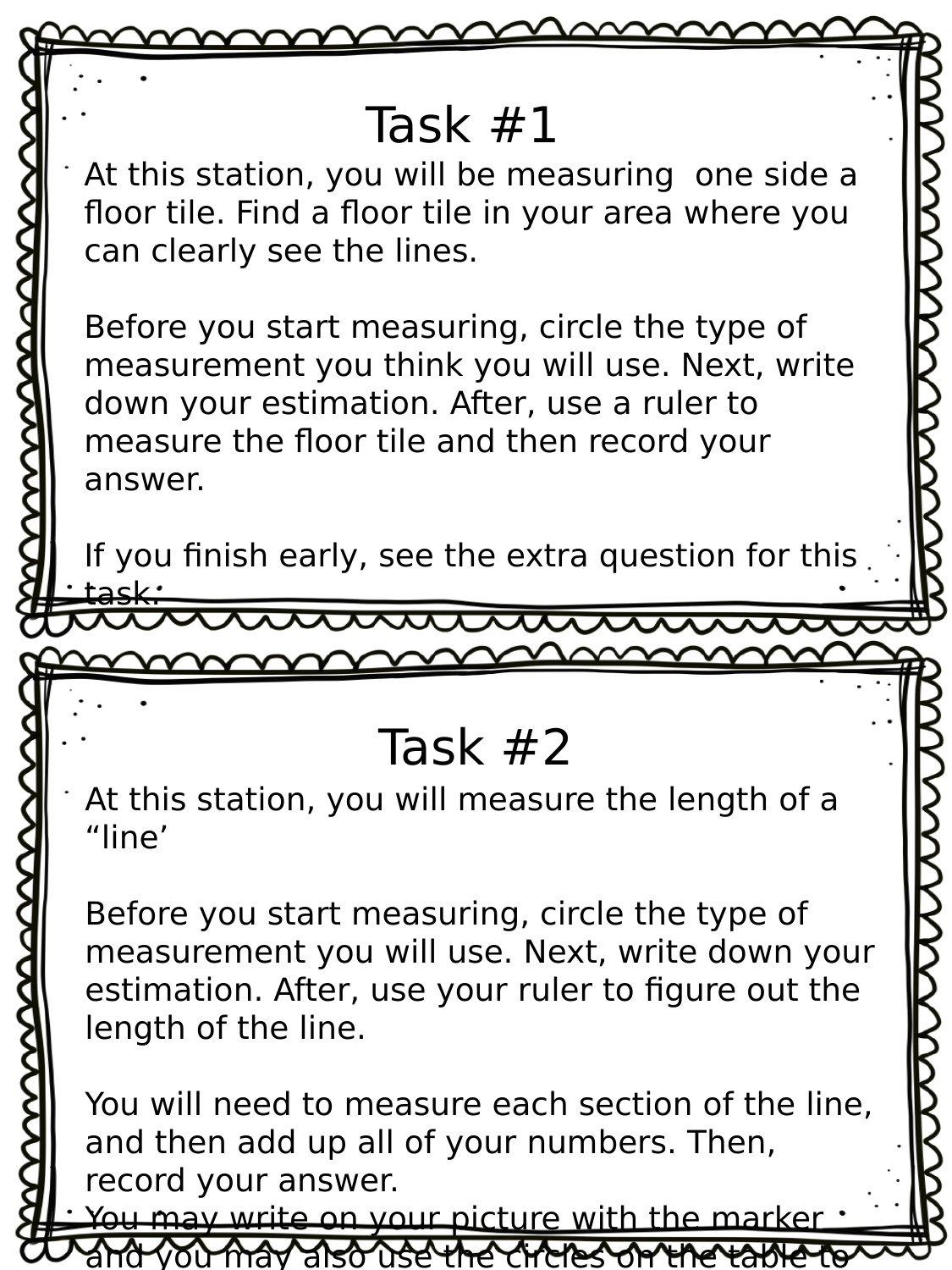 Length Measurement Task Cards  Resource Preview
