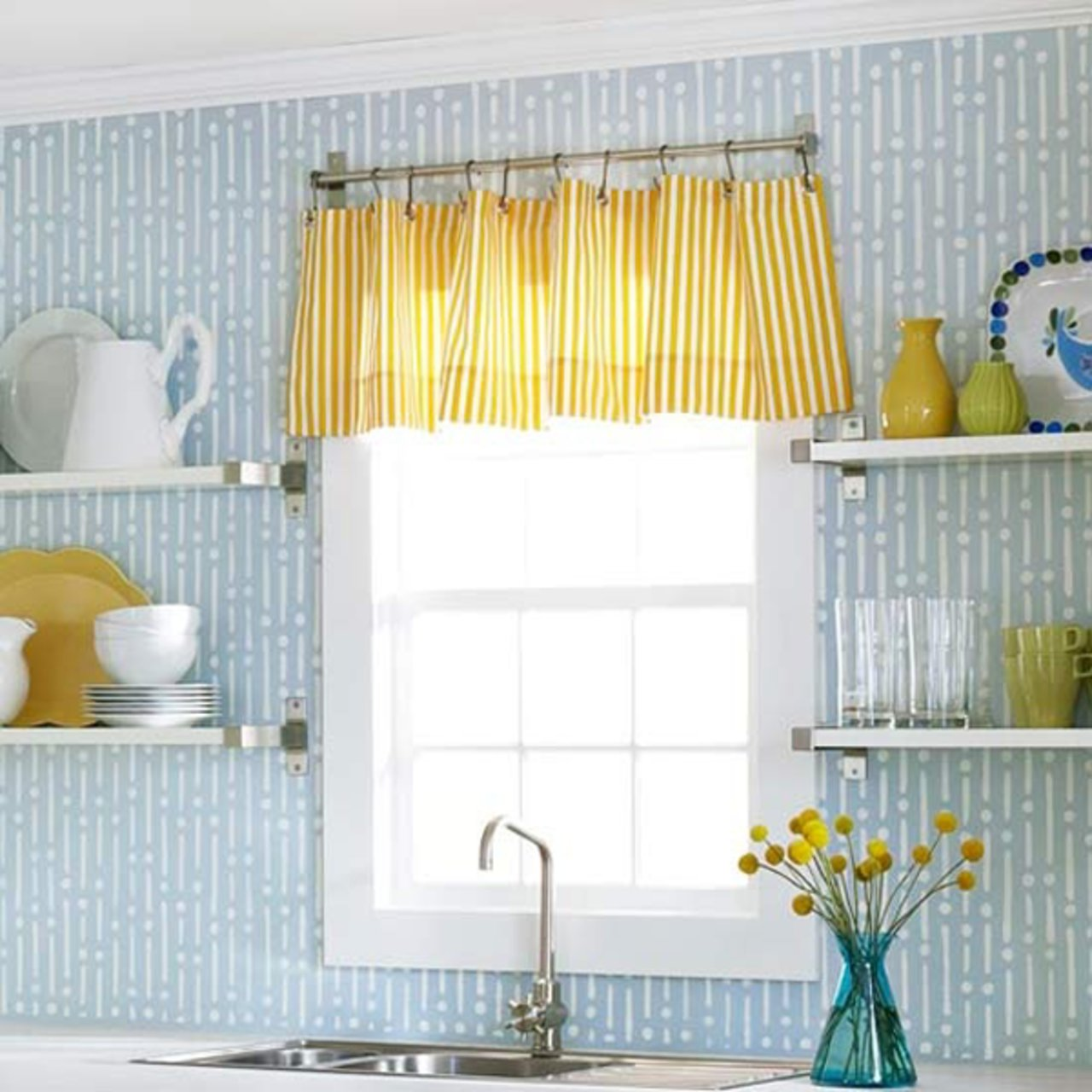 Every awkward window treatment problem solved the accent for Simple window treatments for large windows