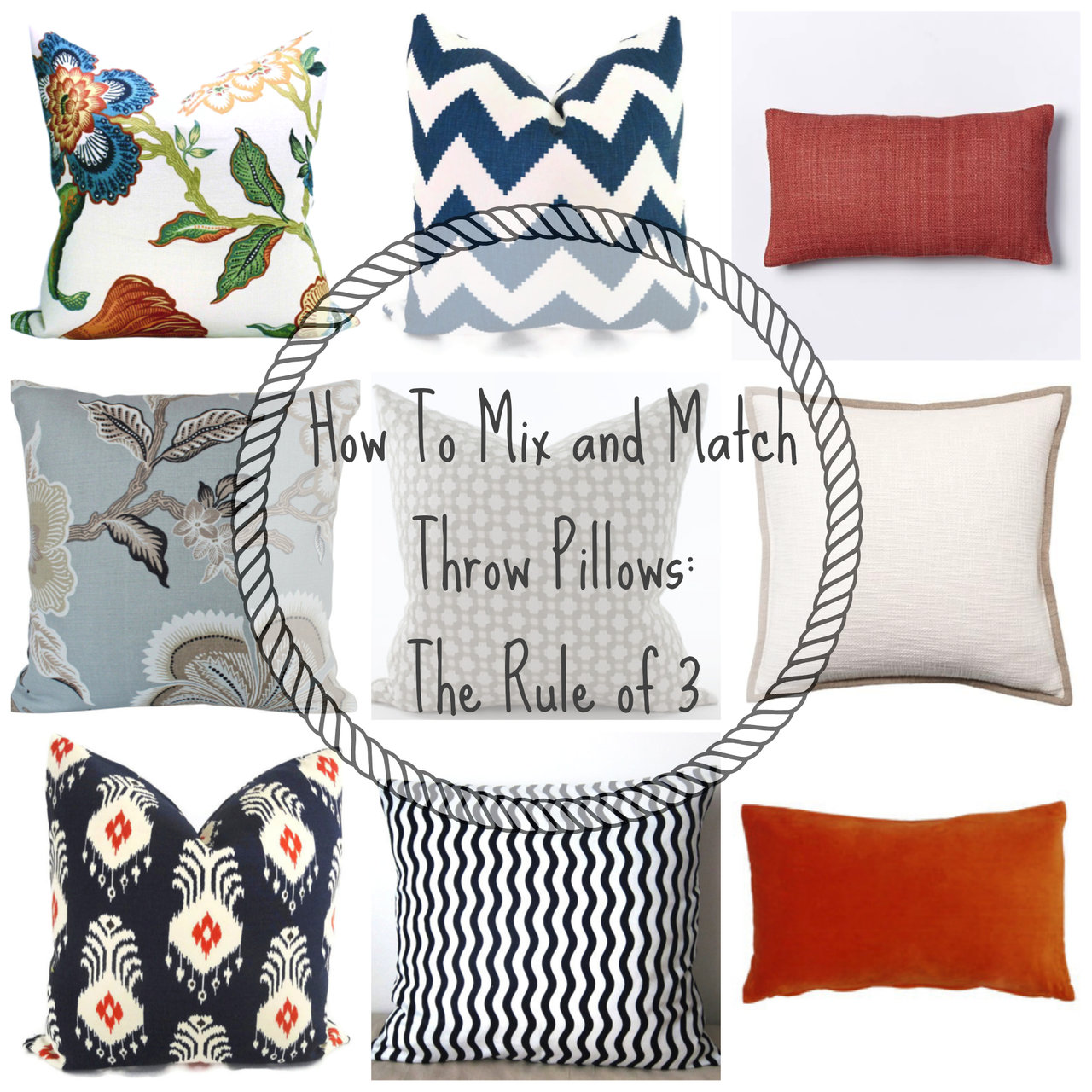 This Formula For Combining Throw Pillows Is Foolproof