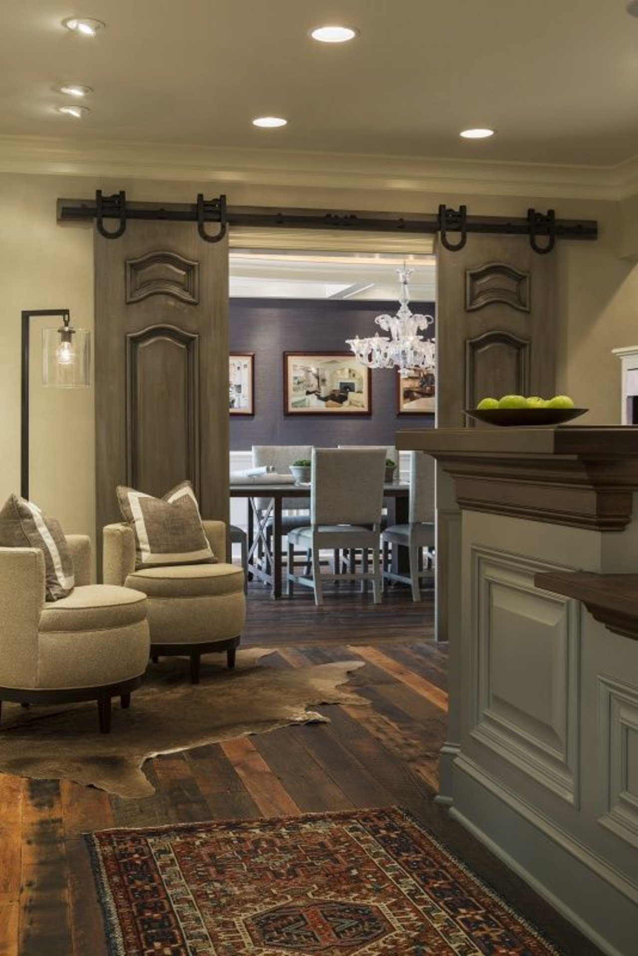 Proof barn doors totally work as home decor the accent for Barn door dining room