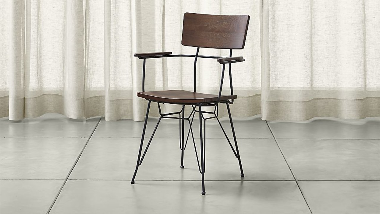 Elston Dining Arm Chair from Crate & Barrel - Great loft style dining chair option