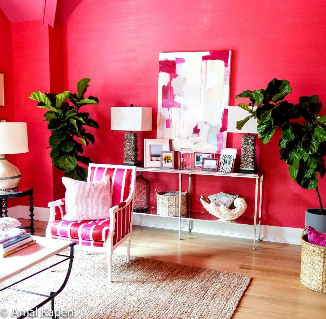 Hamptons Showhouse - Red living room