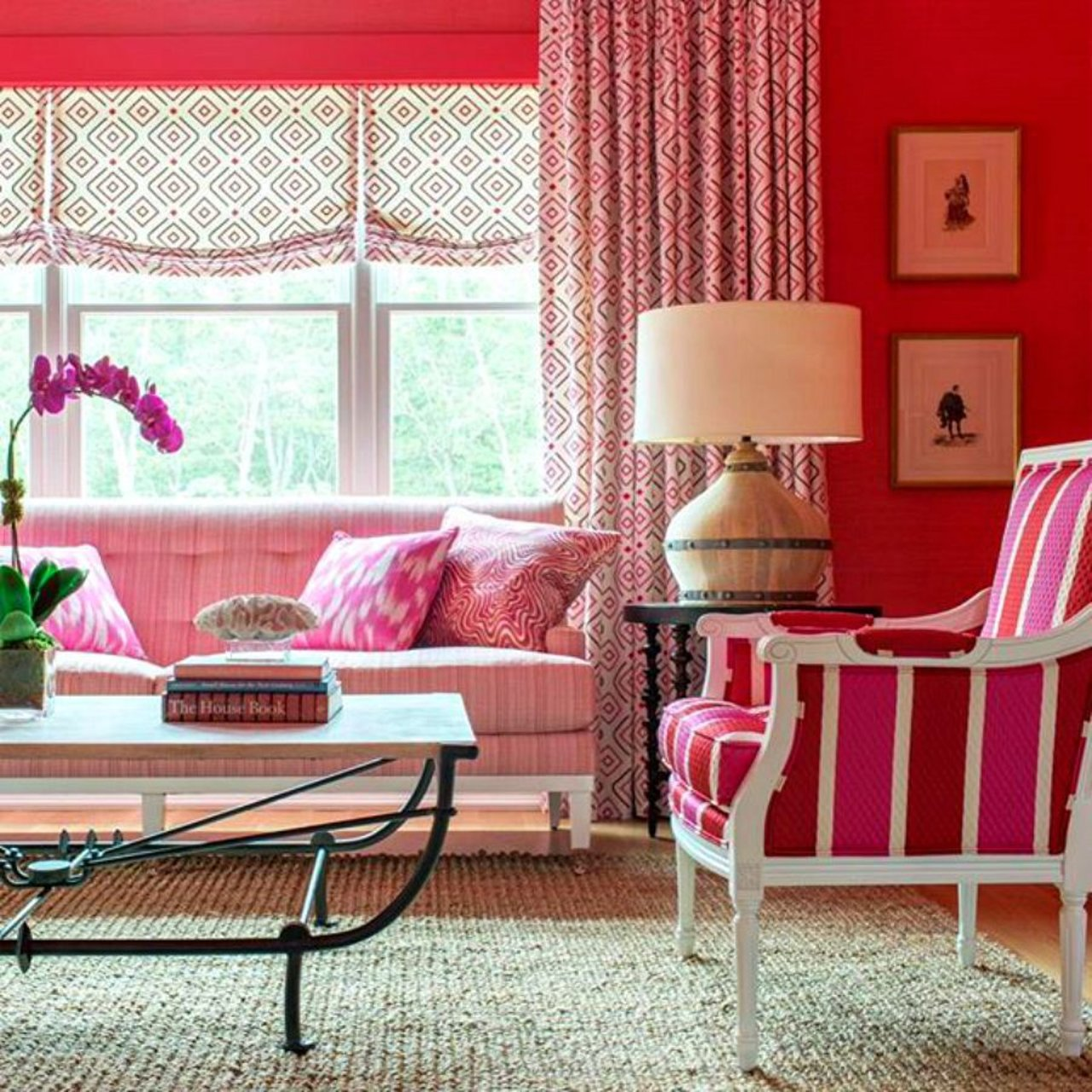 Hamptons Showhouse - Red Living Room 1