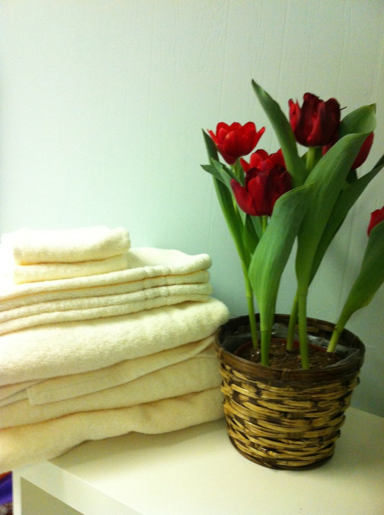 leave fresh towels and flowers for out-of-town guests