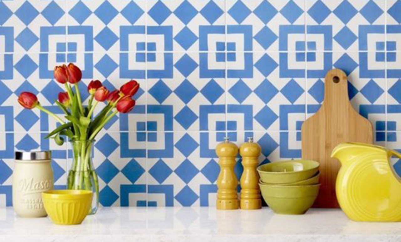 encaustic tile in kitchen