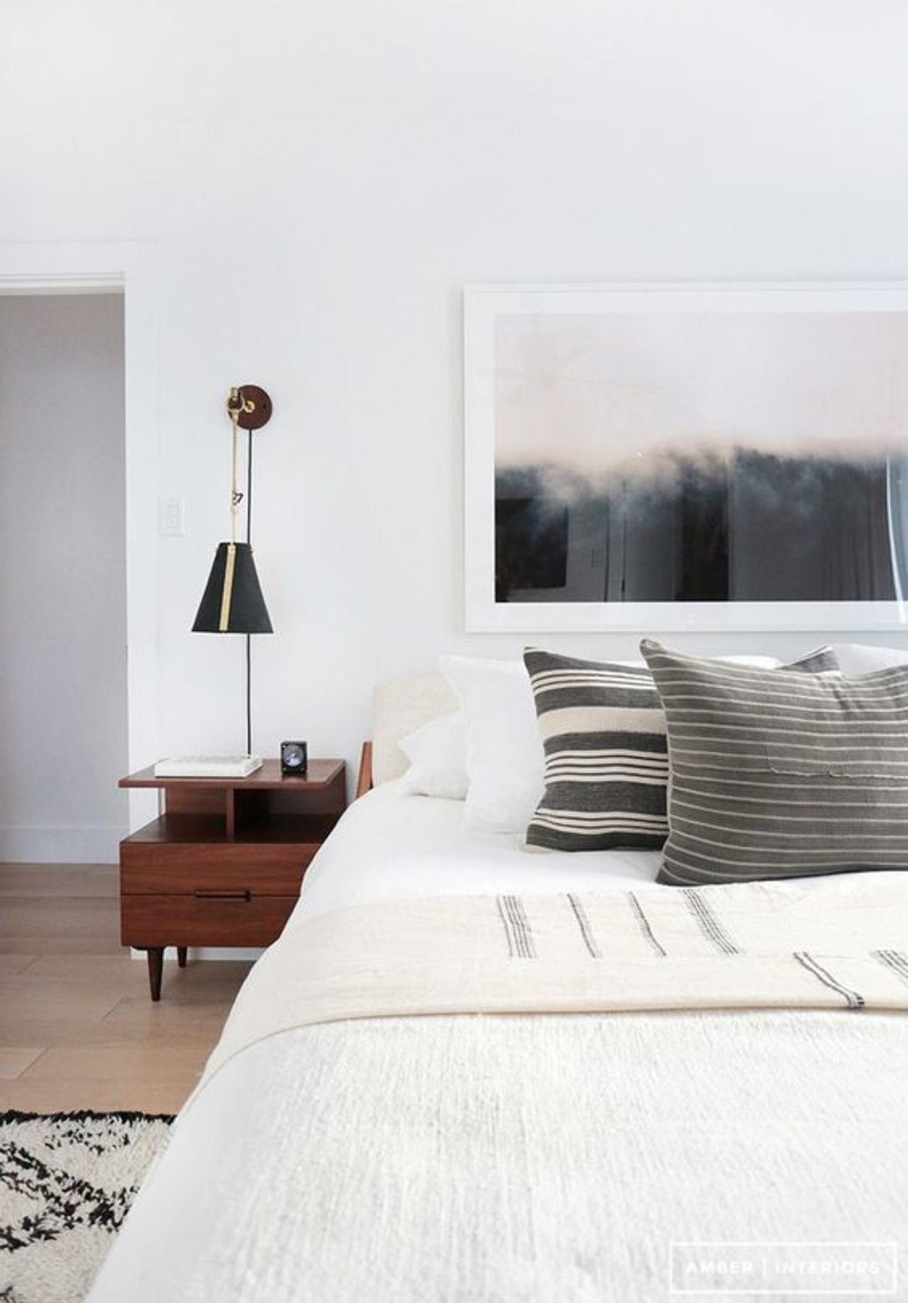 Before after a clean modern guest bedroom the accent for Modern interior blog