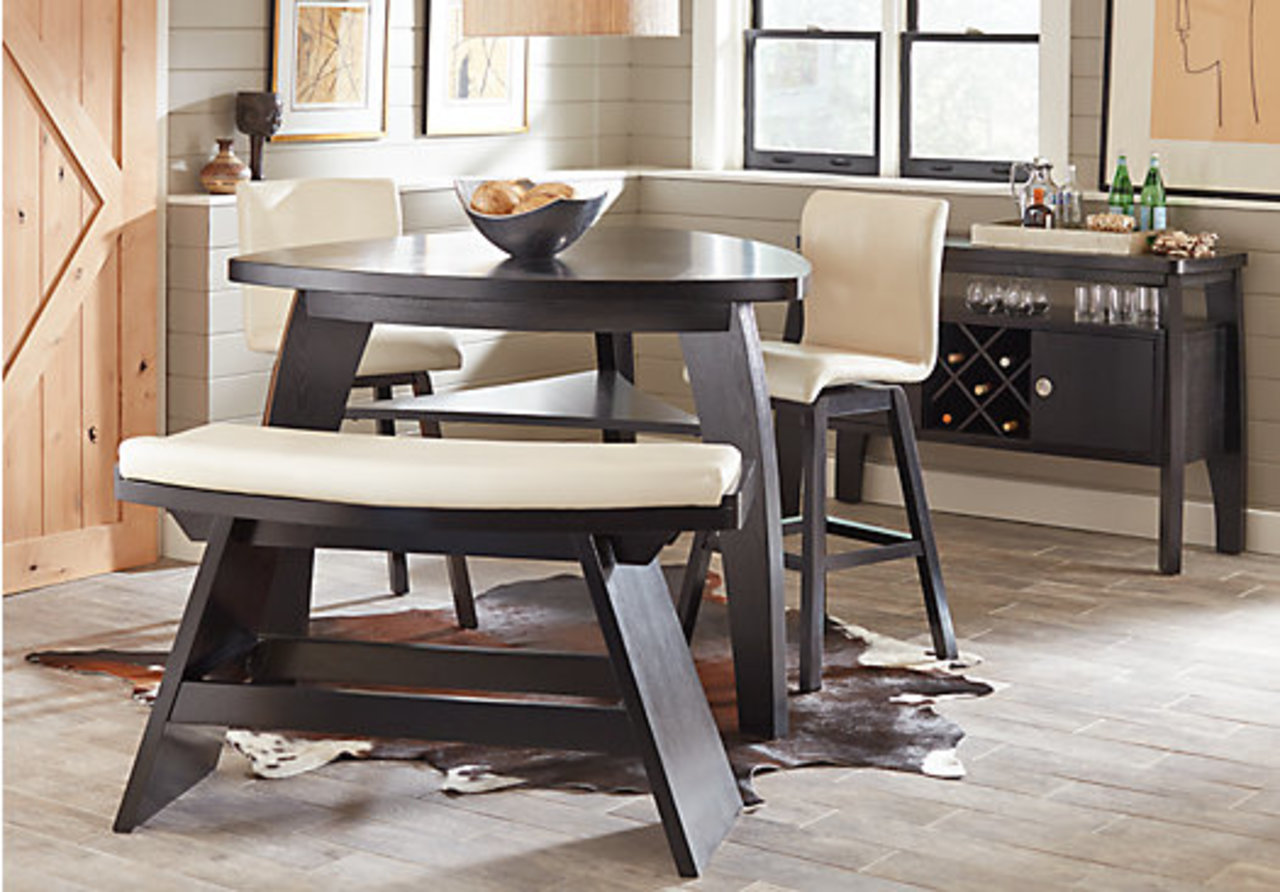 How to mix match dining chairs for a dynamic look the for Dining room sets with matching bar stools