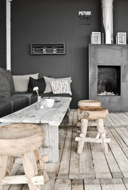 Stunning slate spaces inspired by restoration hardware the accent - Small spaces restoration hardware set ...