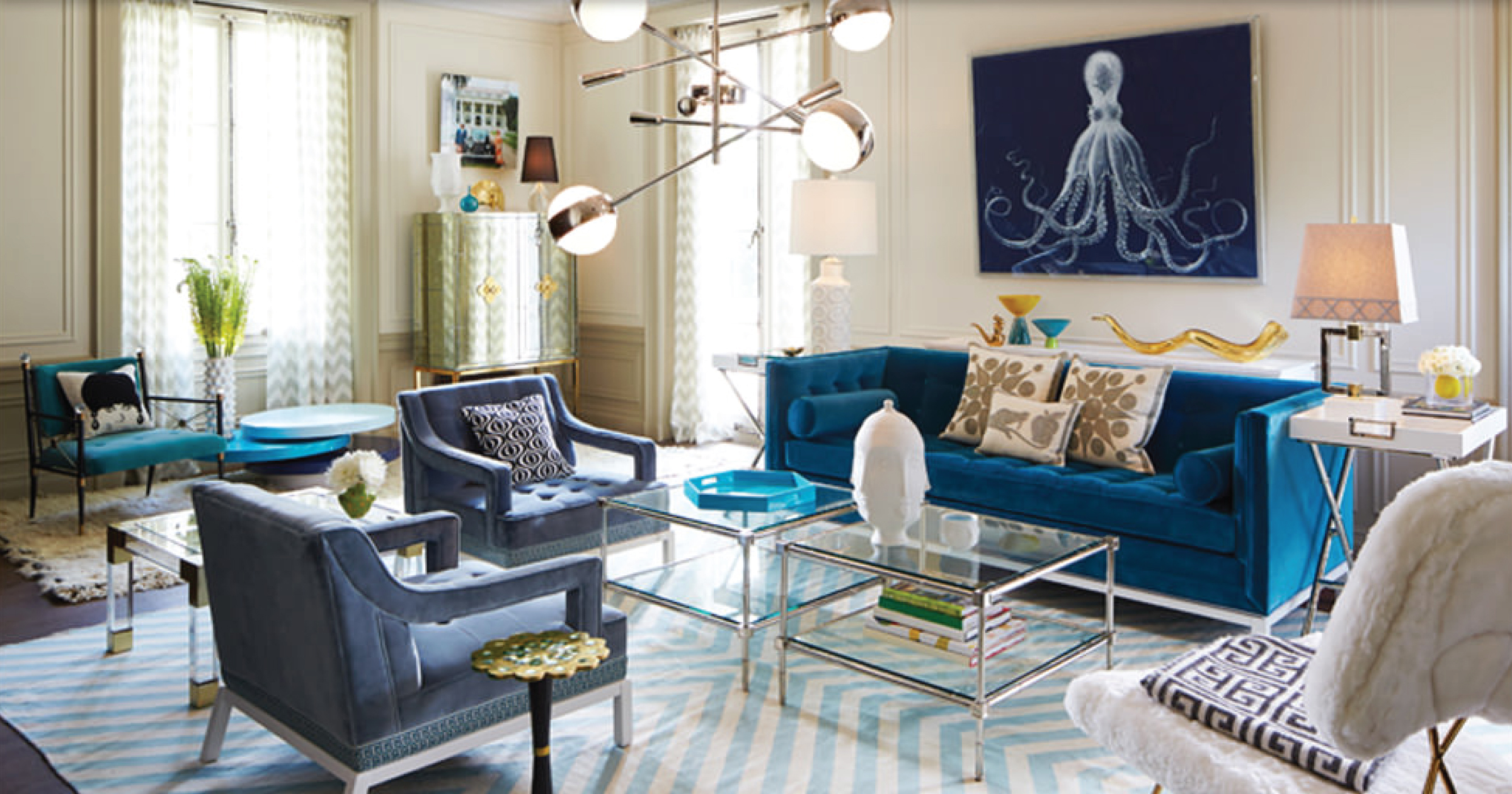 Elegant Saveemail 10 Beautiful Living Room Ideas By Interior Designers Real Vs  Steal A Gorgeous Jonathan Adler
