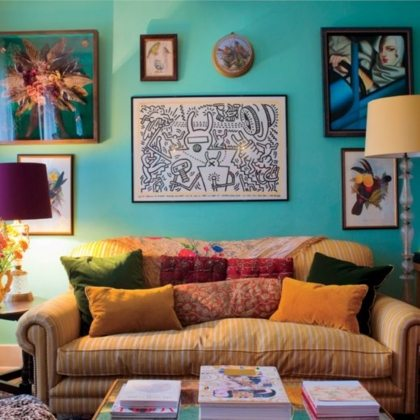 Florence Welchs Rich Jewel Toned Living Room