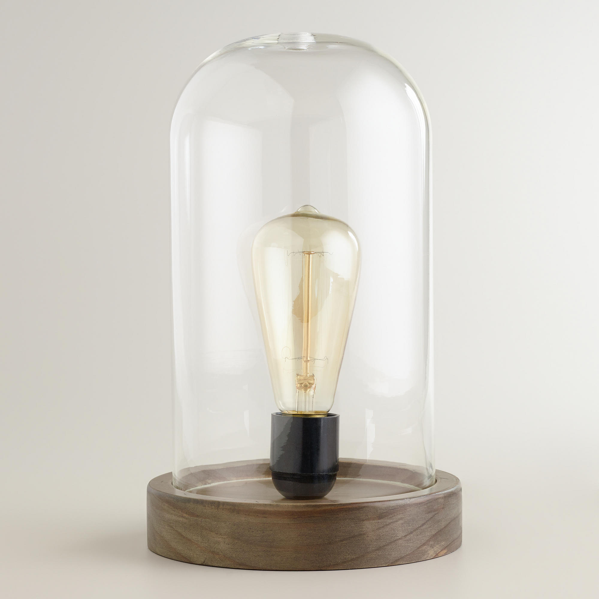 Edison Glass Cloche Table Lamp Online Interior Design NousDecor