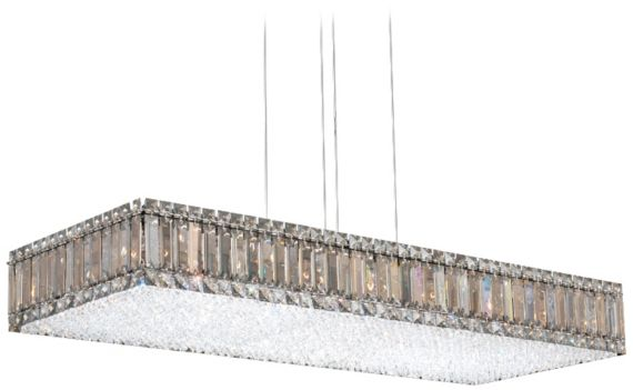 Contemporary schonbek 5 inch h rectangle crystal chandelier contemporary schonbek 5 inch h rectangle crystal chandelier mozeypictures Images