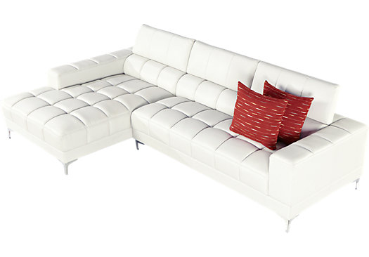rooms to go sofia vergara sybella offwhite 2 pc sectional