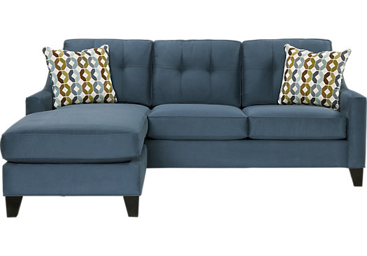 Superieur Cindy Crawford Madison Place Indigo 2Pc Sectional
