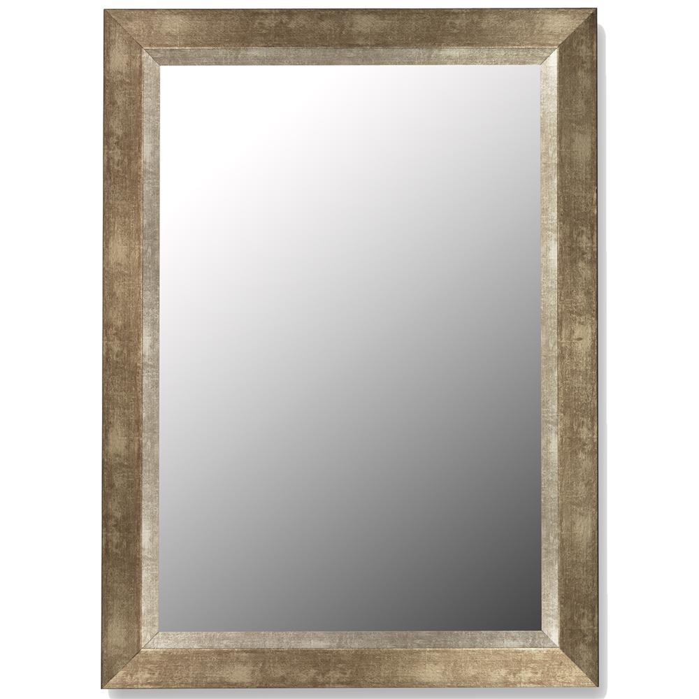 Decorative Wall Mirror with Silver Painted Wood Frame - Cameo Series ...