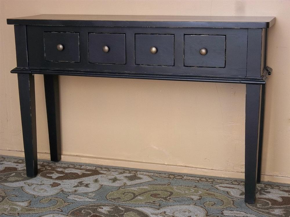 black distressed console table 3
