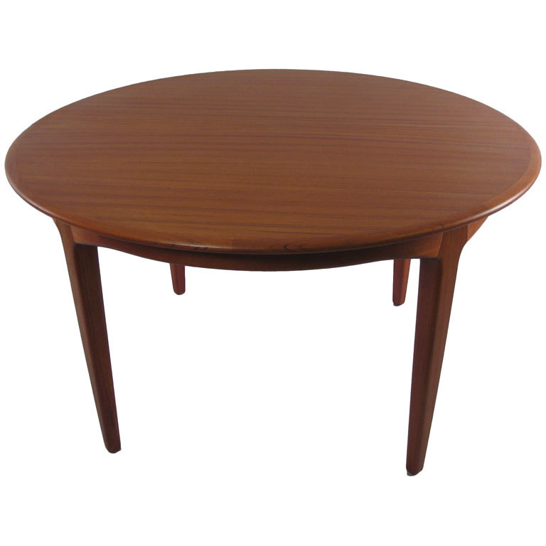 dining tables danish modern round teak extension dining table