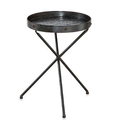 Powell® Foundry Foldable Tray Table in Metal