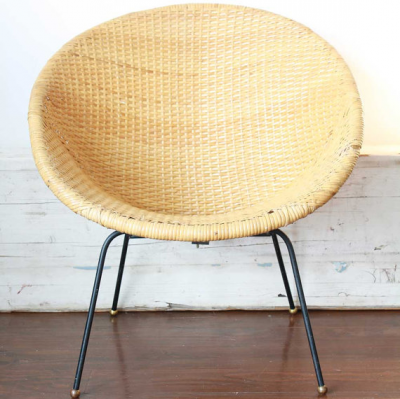 mid century modern wicker hoop chair online interior design