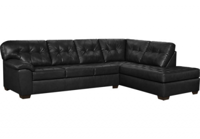 Rooms To Go Angelo Bay 2 Pc Onyx Blended Leather Sectional  sc 1 st  nousDECOR : blended leather sectional - Sectionals, Sofas & Couches