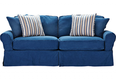 Cindy Crawford Home Beachside Blue Denim Sofa