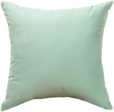 """""""Small Square All-Weather Outdoor Patio Throw Pillow - 15"""""""" Square, Mist Sunbrella"""""""