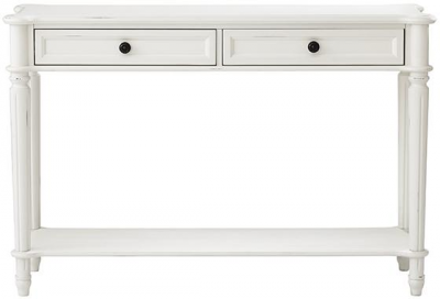 Martha Stewart Living Ingrid Sofa Console Table   Console, Rubbed Ivory