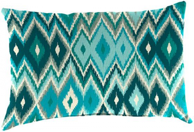"""Standard All-Weather Outdoor Patio Lumbar Throw Pillow - 12""""H X 19""""W, Marva Peacock Polyester"""