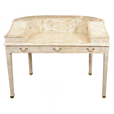 Vintage Writing Desk In Tessellated Stone By Maitland Smith