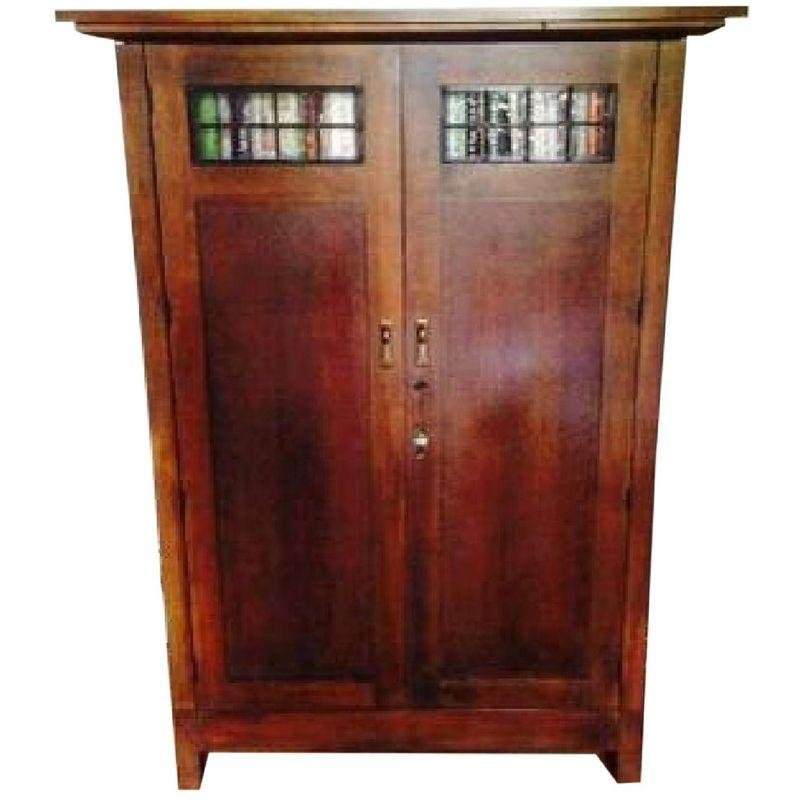 Pre Owned Crate U0026 Barrel Arts U0026 Crafts Armoire Media Cabinet