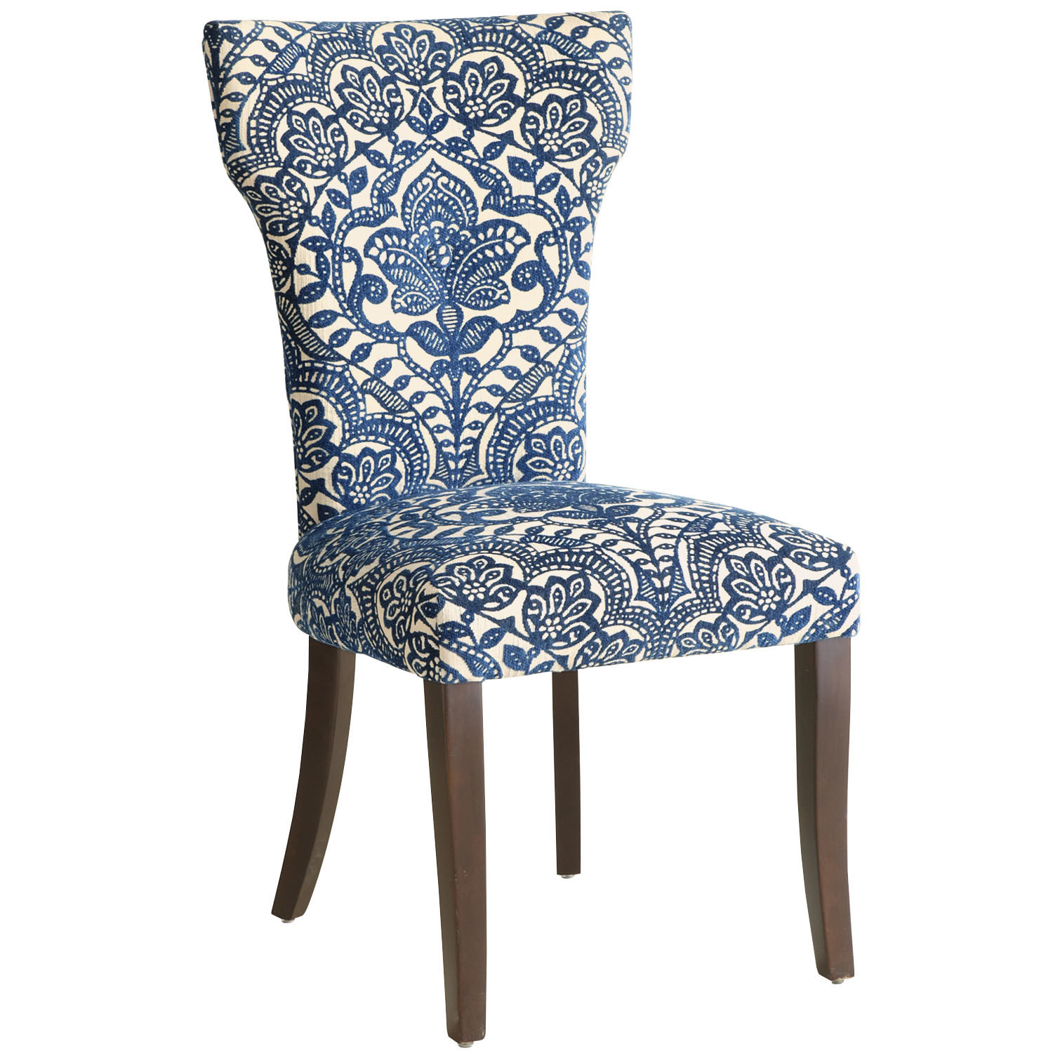 Carmilla Dining Chair   Blue Damask