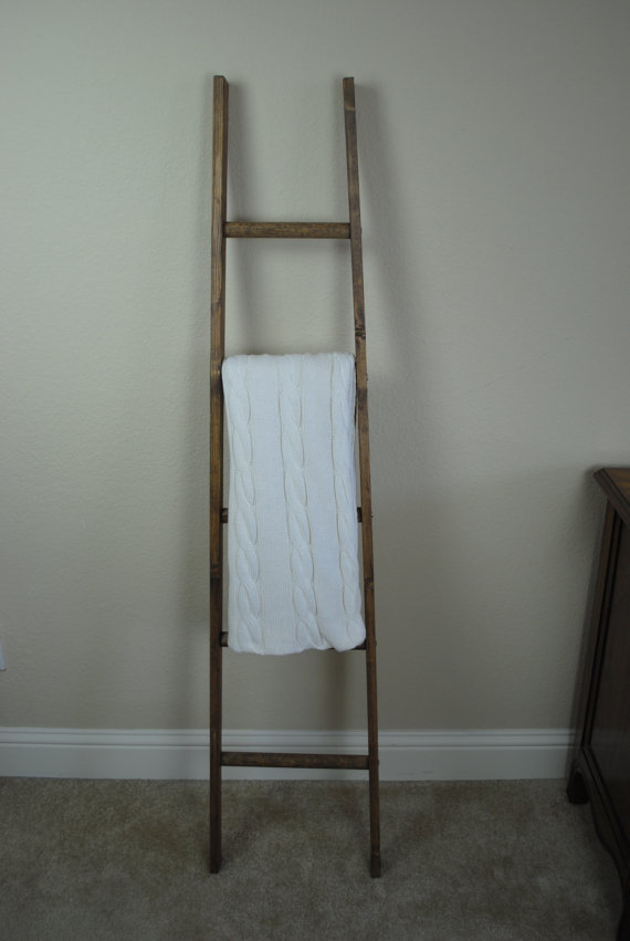 5 Ft Tapered Rustic Ladder Repurposed Farmhouse