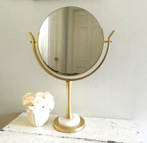 Vintage Vanity Mirror On Stand Shop Mirror Gold Large Online Interior Desig