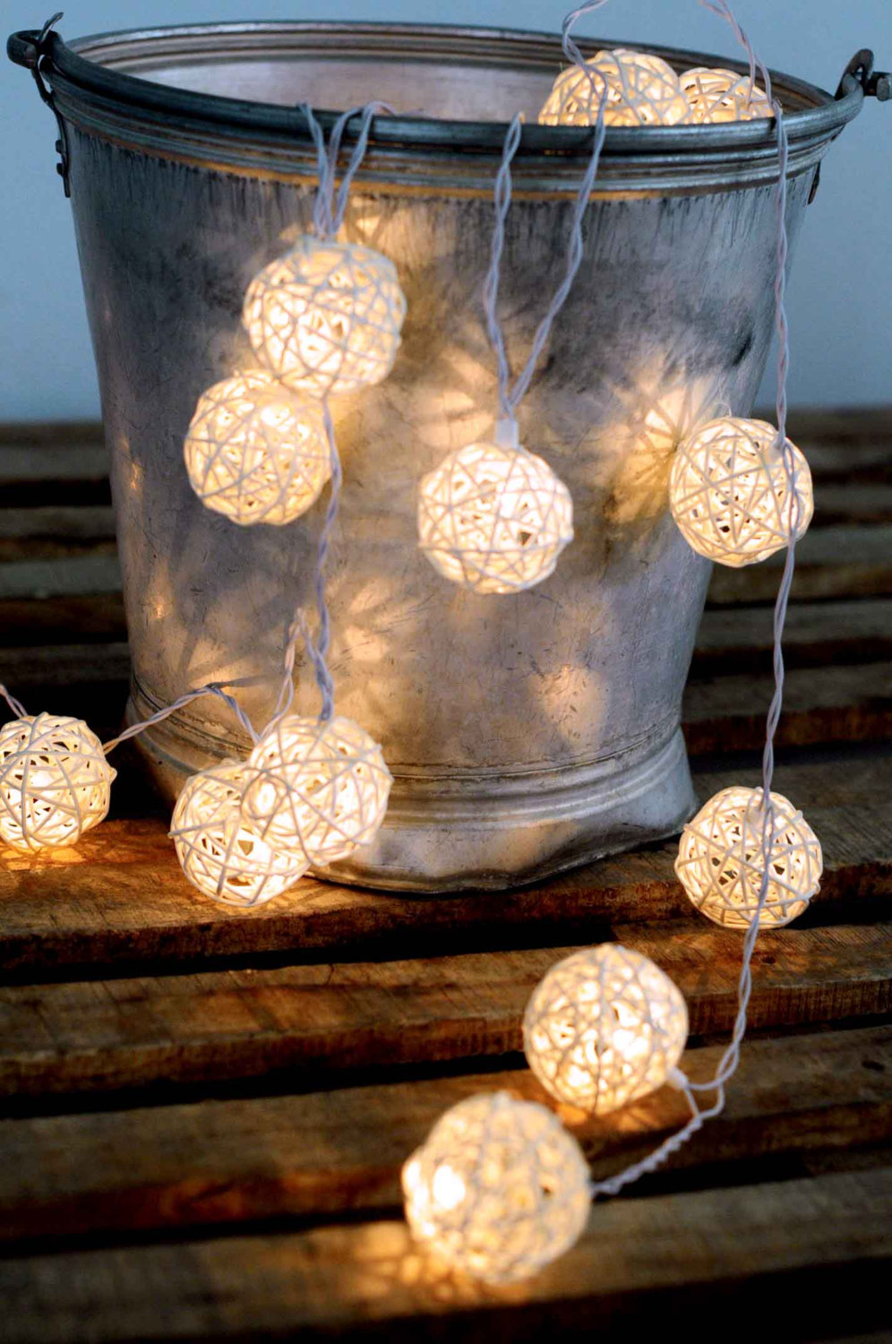 beautiful outdoor lantern string light rattan white color hanging light night decor party ...