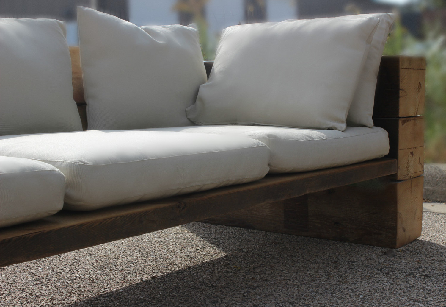 Beau Reclaimed Wood Sofa, Couch, Sectional, Reclaimed Wood, Indoor/Outdoor, Free