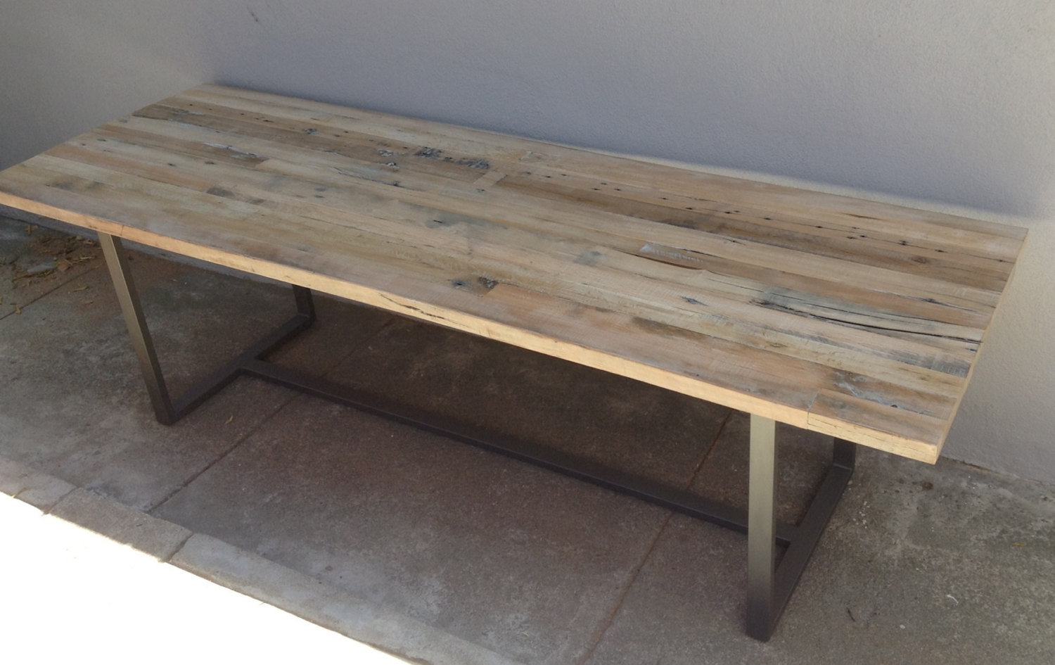 Reclaimed Wood Rustic Industrial Modern Farmhouse Style Indoor Outdoor Dining Table Coffee