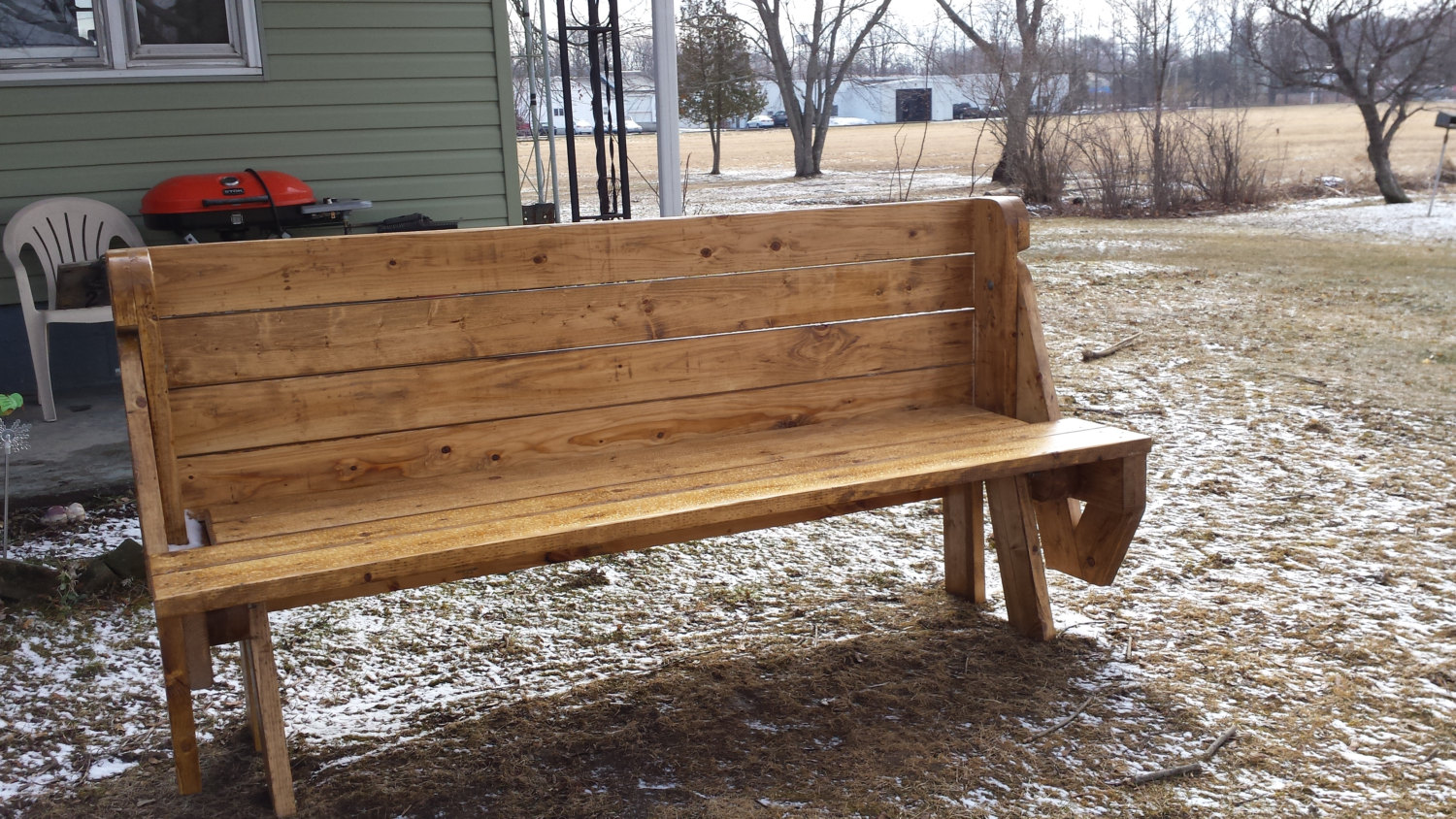 Picnic Table That Converts To Bench For Extra Seting Online Interior Design Nousdecor