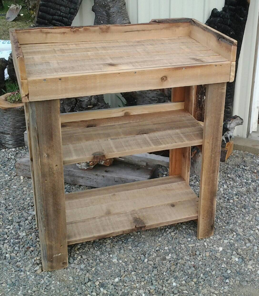 Rustic Cedar Potting Bench